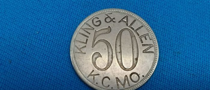 King and Allen 50 Cent Trade Token Collectible. $200