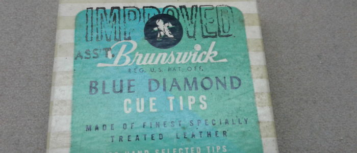 Classic Brunswick blue diamond tips w/box $5.